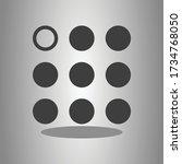 menu simple icon  vector with...
