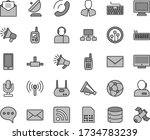 thin line gray tint vector icon ... | Shutterstock .eps vector #1734783239