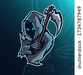 mascot logo design grim reaper...