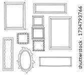 big frame set. different frame... | Shutterstock .eps vector #1734793766
