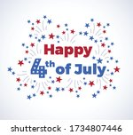 fourth of july typography... | Shutterstock .eps vector #1734807446