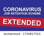 uk coronavirus job retention... | Shutterstock .eps vector #1734817313