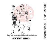 Line Art Fashion Girl Design.t...