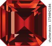 ruby gemstone jewel digital... | Shutterstock .eps vector #1734842186