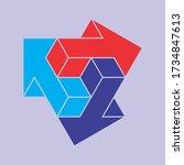3d vector logo design template... | Shutterstock .eps vector #1734847613