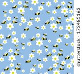 Seamless Bees And Flowers...