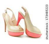 Beautiful Woman Shoes Isolated...