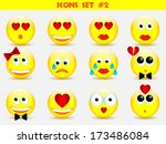 icons smile set | Shutterstock .eps vector #173486084