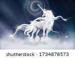 Illustration Of  Unicorn With...