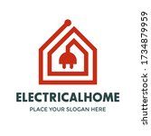 electricity or electrical home... | Shutterstock .eps vector #1734879959