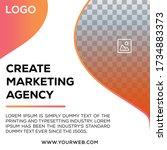 corporate marketing business... | Shutterstock .eps vector #1734883373