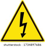 high voltage icon on white...