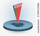 belarus map in round isometric... | Shutterstock .eps vector #1734915386