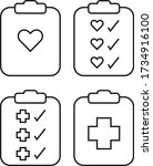 clipboard icon. diagnosis... | Shutterstock .eps vector #1734916100