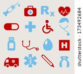 medical icons  | Shutterstock .eps vector #173492684