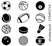 sports balls icons set. vector... | Shutterstock .eps vector #173492714