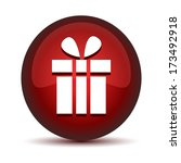 gift icon button | Shutterstock .eps vector #173492918