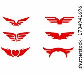angel wings vector icon on... | Shutterstock .eps vector #1734941696