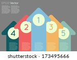 arrow with numbers   business... | Shutterstock .eps vector #173495666