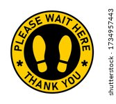please wait here thank you... | Shutterstock .eps vector #1734957443