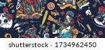 post apocalypse seamless... | Shutterstock .eps vector #1734962450
