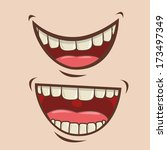 mouth design over pink... | Shutterstock .eps vector #173497349