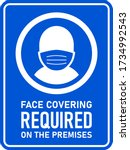 face covering required on the... | Shutterstock .eps vector #1734992543