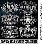 Western Style Cowboy Belt...