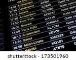 departures display board at... | Shutterstock . vector #173501960