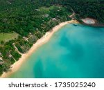 Aerial View Of Lazy Beach At...