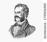 victorian gentlemen. elegant... | Shutterstock .eps vector #1735026500