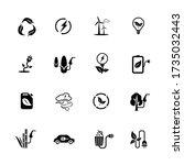 alterantive energy icons set....