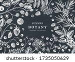wild berries vintage design on... | Shutterstock .eps vector #1735050629