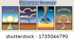 psychedelic rainbows vintage... | Shutterstock .eps vector #1735066790