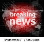 news and press concept  words...   Shutterstock . vector #173506886