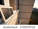 Solar Panel On The Window Of A...