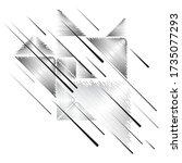 vector hipster triangle... | Shutterstock .eps vector #1735077293