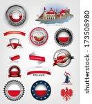 Stock vector poland seals made in poland polish flag vector 173508980