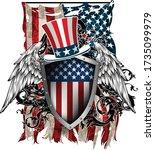 design of postcard  banner  for ... | Shutterstock .eps vector #1735099979