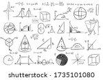 trigonometry functions  charts... | Shutterstock .eps vector #1735101080