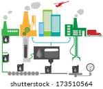 schematic illustration of... | Shutterstock .eps vector #173510564