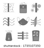 air purification icon set ... | Shutterstock .eps vector #1735107350