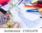 fashion designer close up | Shutterstock . vector #173511470