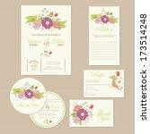 set of wedding invitation cards ... | Shutterstock .eps vector #173514248