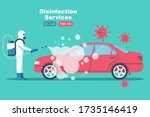 car disinfection services.... | Shutterstock .eps vector #1735146419