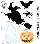 halloween collection   vector | Shutterstock .eps vector #17351551