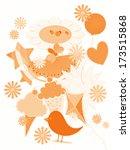 summertime collage | Shutterstock . vector #173515868