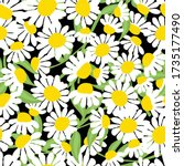 floral seamless pattern with... | Shutterstock .eps vector #1735177490