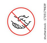 no handshake isolated icon... | Shutterstock .eps vector #1735179839
