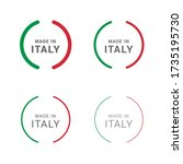 premium quality made in italy... | Shutterstock .eps vector #1735195730